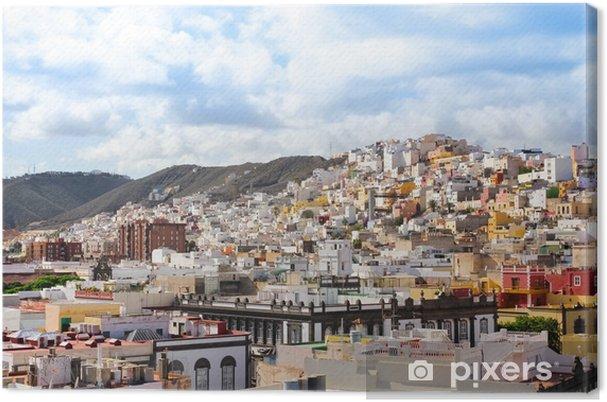 Cuadro en Lienzo Casas coloridas de Las Palmas de Gran Canaria, España - Europa