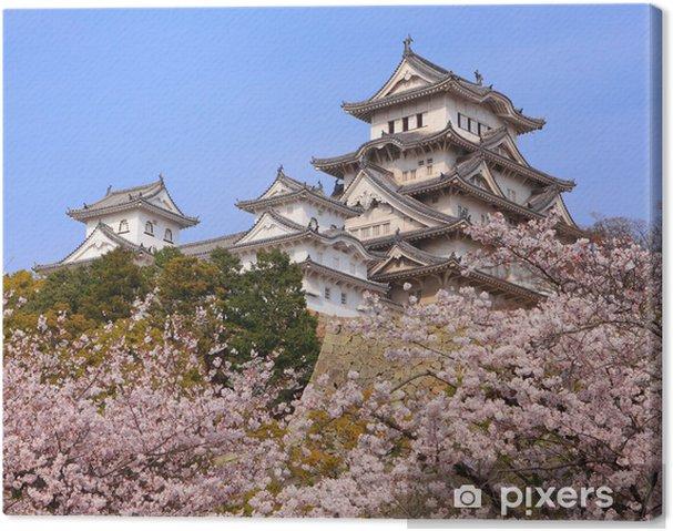 Cuadro en Lienzo Castillo japonés y hermosa tiro flor de cerezo rosa en Japón - Estilos