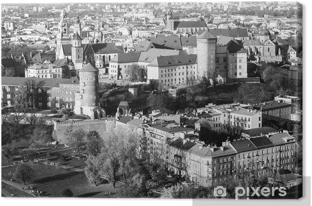 Cuadro en Lienzo Castillo real de Wawel con el parque en Cracovia, Polonia - Temas