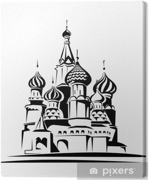 Cuadro en Lienzo Catedral de San Basilio - Moscú