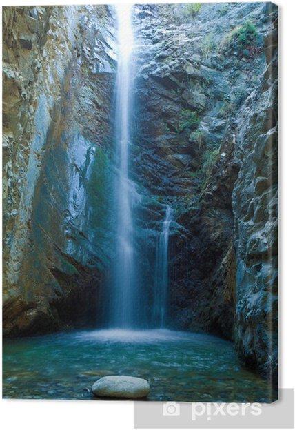 Cuadro en Lienzo Chantara Cascadas en las montañas Trodos, Chipre - Temas