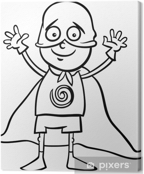 Cuadro en Lienzo Chico de héroe para colorear traje • Pixers ...