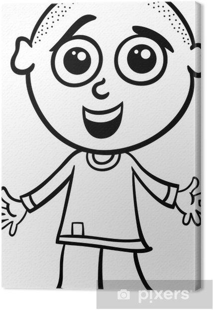 Cuadro en Lienzo Chico lindo para colorear de dibujos animados ...