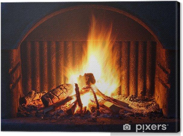 Cuadro en Lienzo Chimenea con fuego - Temas