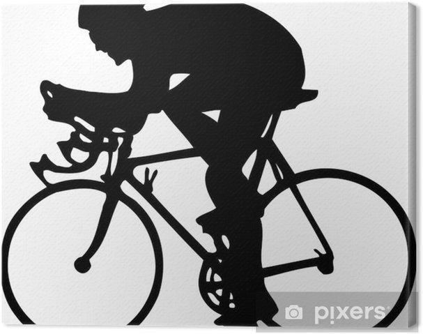 Cuadro en Lienzo Ciclista - Deportes de exterior
