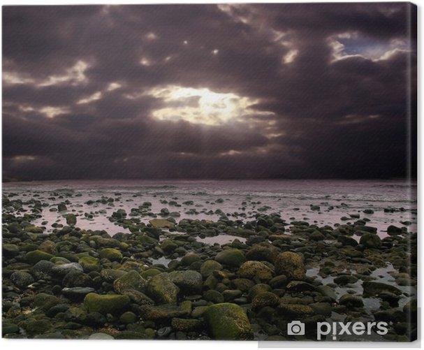 Cuadro en Lienzo Cielo violeta en el océano - Europa