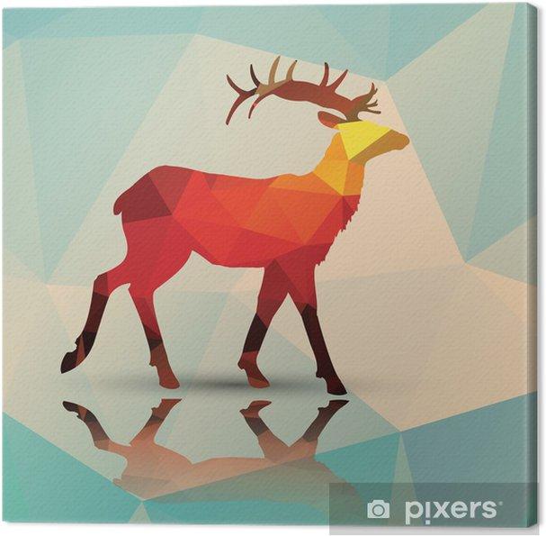Cuadro en Lienzo Ciervos poligonal geométrico, diseño de patrones, vector - Temas