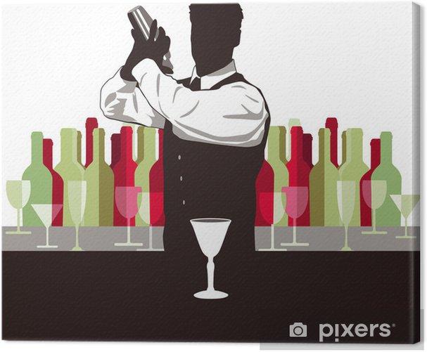 Cuadro en Lienzo Cocktail mixen - Alcohol