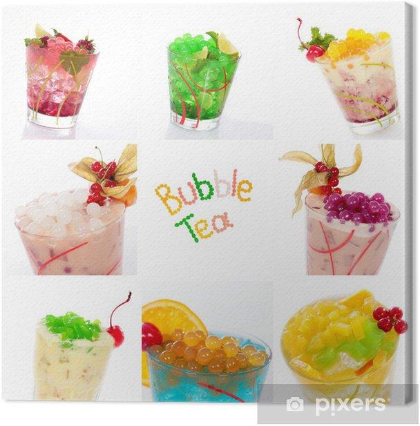 Cuadro en Lienzo Cocktails und mit collage bobas Jelly - Alcohol
