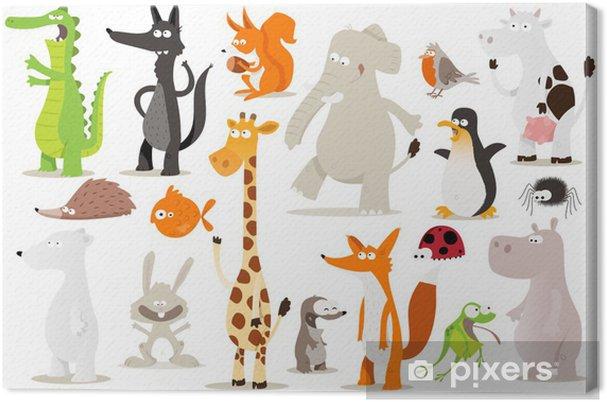 Cuadro en Lienzo Colección de animales para niños - Destinos