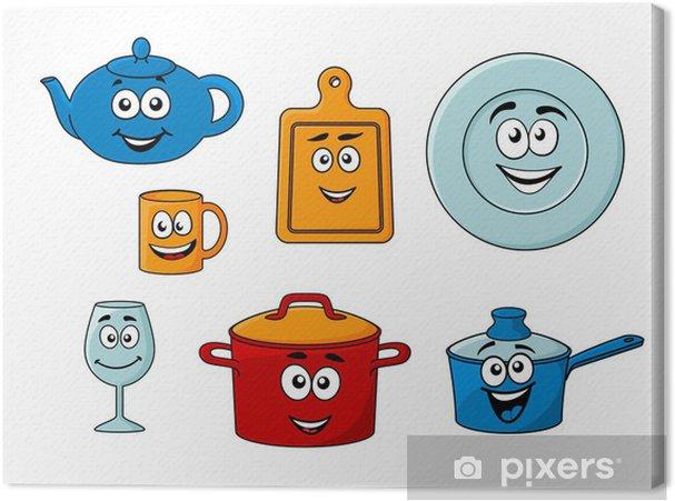Cuadro en lienzo colecci n de utensilios de cocina de for Utensilios de cocina casa joven