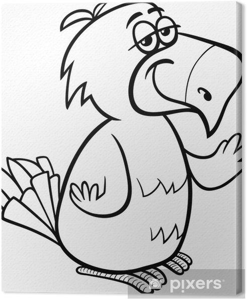 Cuadro en Lienzo Colorear dibujos animados loro pájaro • Pixers ...