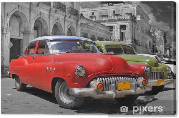 Cuadro en Lienzo Colorful Havana coches panorama -