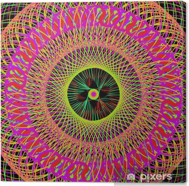 Cuadro en Lienzo Colorido del arte abstracto psicodélico del fondo. vector Illustratio - Temas