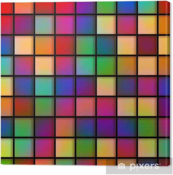 Cuadro en Lienzo Colorido Glass Tiles - Abstractos