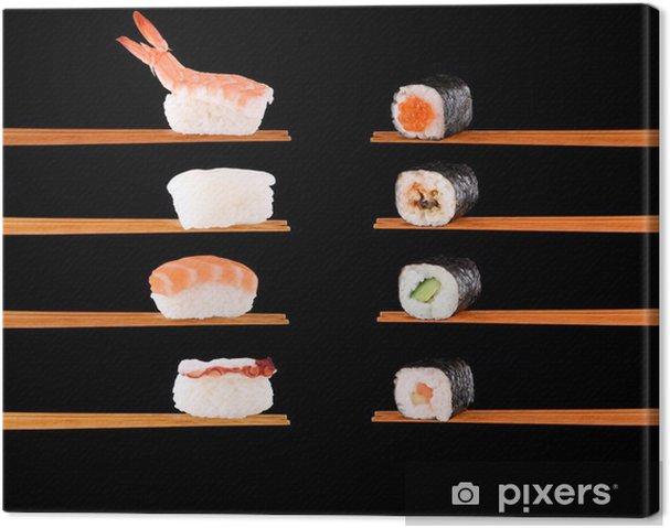 Cuadro en Lienzo Comida tradicional japonesa - Sushi