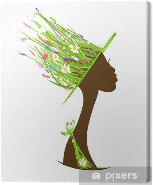 Cuadro en Lienzo Concepto de cuidado del cabello orgánicos 7189361b322
