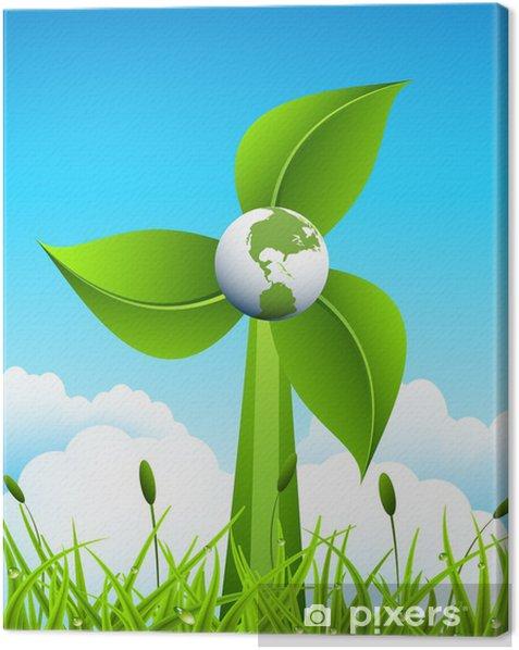 Cuadro en Lienzo Concepto eco - Naturaleza y zonas salvajes