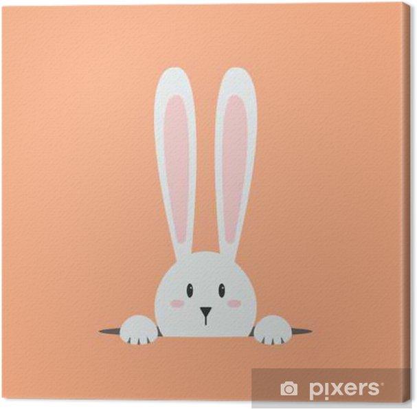 Cuadro en Lienzo Conejo blanco Pascua - Animales