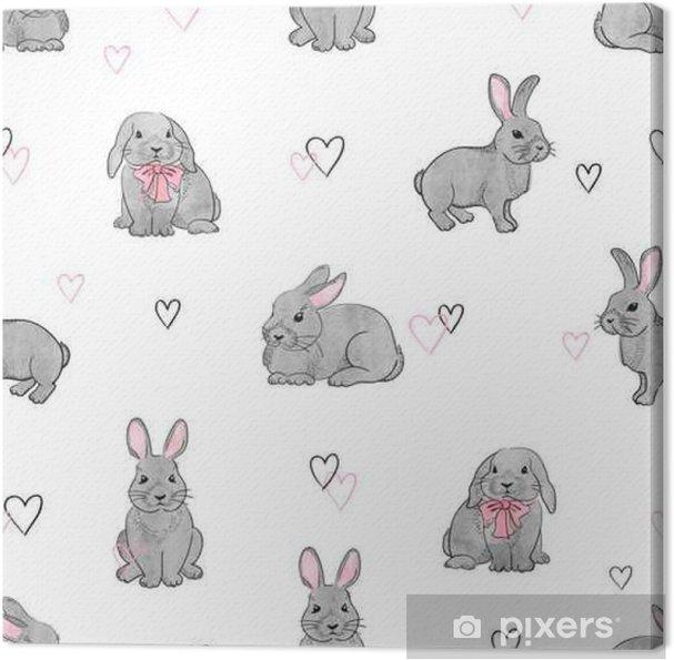 Cuadro en Lienzo Conejos de Pascua de patrones sin fisuras. Fondo de ...