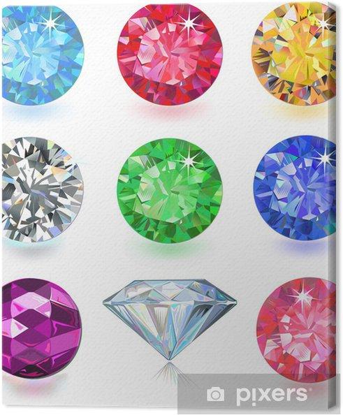 Cuadro en Lienzo Conjunto de gemas de colores - Ventas