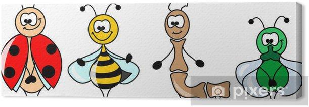 Cuadro en Lienzo Conjunto de la historieta de los diferentes insectos - Otros Otros