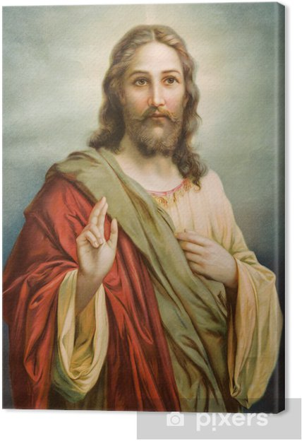 Cuadro en Lienzo Copia de la típica imagen católica de Jesucristo - Temas