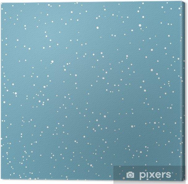Cuadro en Lienzo Copo de nieve patrón transparente. Vacaciones Nevadas de vectores sin fisuras Pa - Religiones y culturas