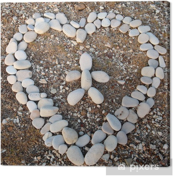 Cuadro en Lienzo Corazón de piedras - Ética