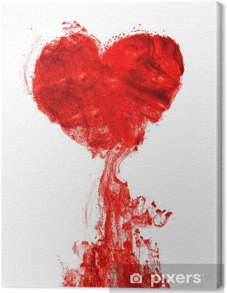 Cuadro en Lienzo Corazón de tinta forma de sangre - iStaging