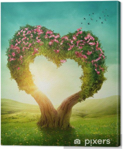 Cuadro En Lienzo Corazón En Forma De árbol Pixers Vivimos Para