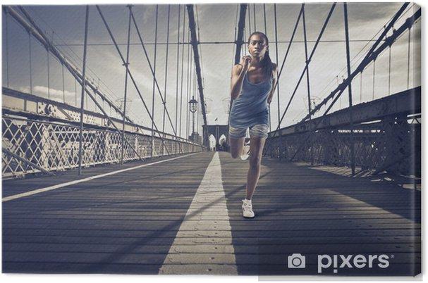 Cuadro en Lienzo Correr en Nueva York - Salud
