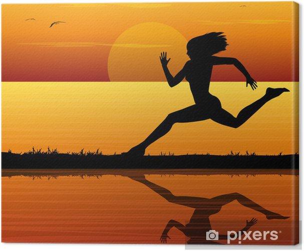 Cuadro en Lienzo Correre al tramonto sul mare - Temas