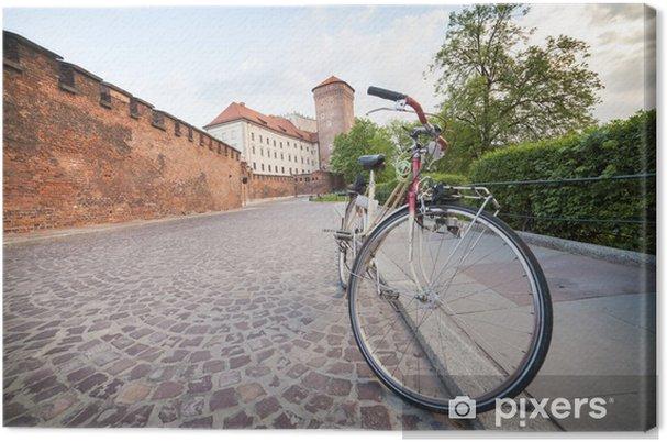 Cuadro en Lienzo Cracovia en bicicleta - Europa