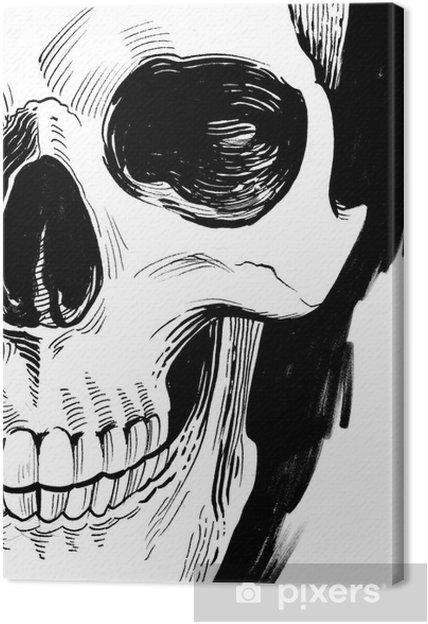 Cuadro en Lienzo Cráneo blanco y negro • Pixers® - Vivimos para cambiar 8dcebd2be15