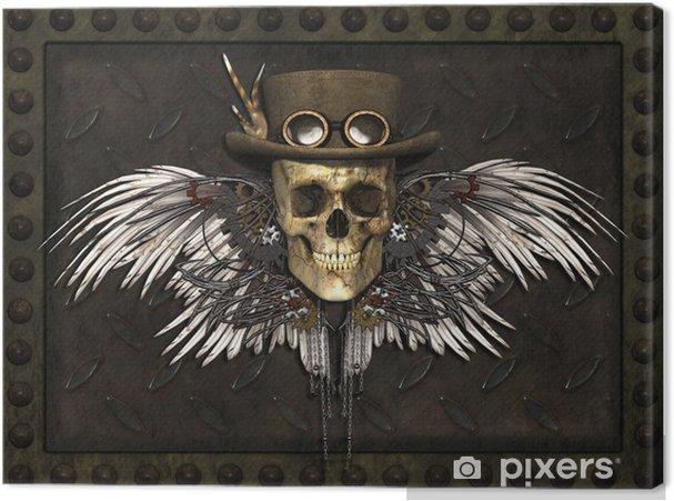 Cuadro en Lienzo Cráneo Steampunk - Steampunk
