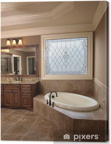 Cuadro en Lienzo Cuarto de baño de lujo con Stained Glass