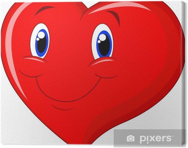 Cuadro en Lienzo De dibujos animados de corazón rojo - Señales y símbolos