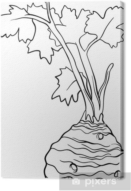 Cuadro en Lienzo De dibujos animados de verduras de apio para ...