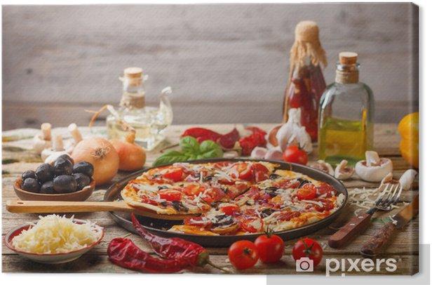 Cuadro en Lienzo Deliciosa pizza fresca - Temas
