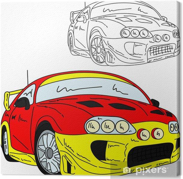Cuadro en Lienzo Deporte rally de coches - Por carretera