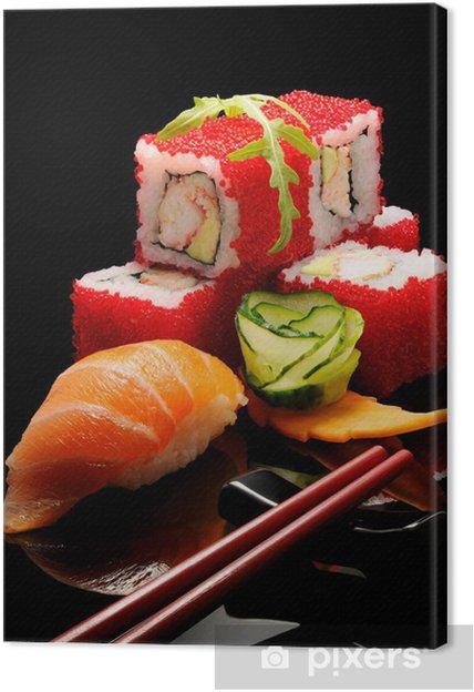 Cuadro en Lienzo Desayuno japonés - Sushi