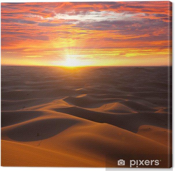 Cuadro en Lienzo Desierto en la puesta del sol - Temas