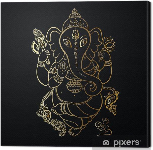 Cuadro en Lienzo Dibujado a mano ilustración Ganesha. - Estilos