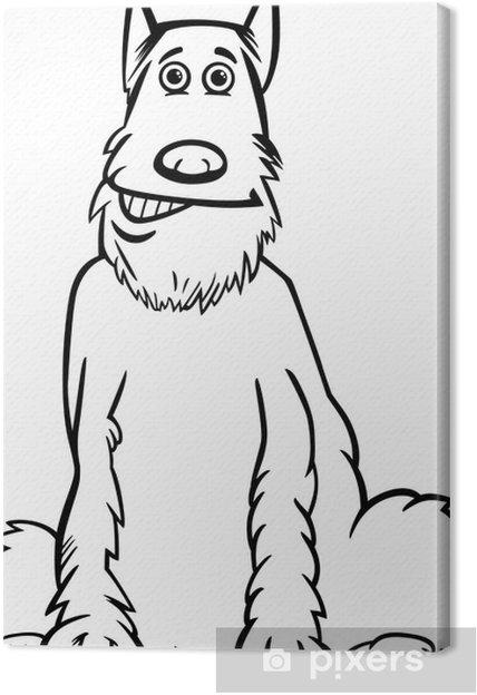 Cuadro En Lienzo Dibujo Animado Del Perro Schnauzer De Dibujos