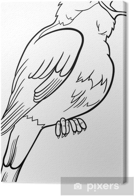 Cuadro En Lienzo Dibujo Para Colorear Pájaro Ruiseñor Pixers Vivimos Para Cambiar