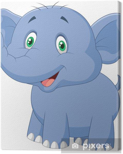 Cuadro en Lienzo Dibujos animados de elefantes - Vinilo para pared