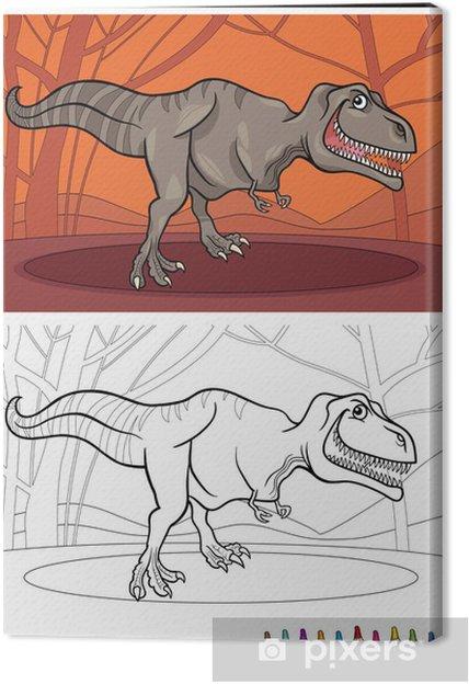 Cuadro en Lienzo Dinosaurio Tyrannosaurus rex para colorear • Pixers ...