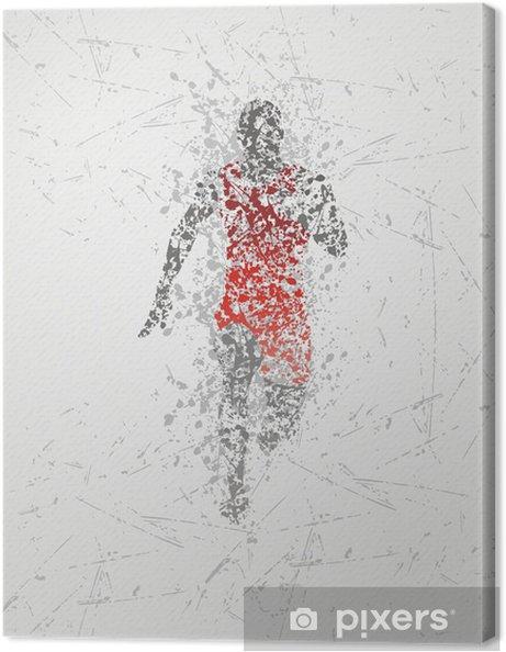 Cuadro en Lienzo Diseño corredor atleta - Deportes