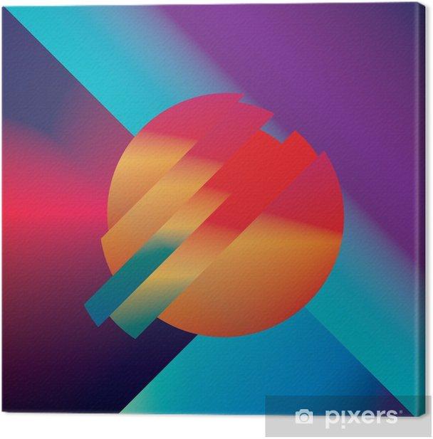 Cuadro en Lienzo Diseño de material de vectores de fondo abstracto con formas geométricas isométricos. Vivo, brillante, símbolo colorido brillante para el papel pintado. - Recursos gráficos